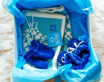 Baby Sheepskin And Blanket Gift Set