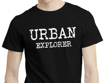 Urbex Urban Explorer Photographer Abandoned - Shirt T-shirt Tee Clothing Top
