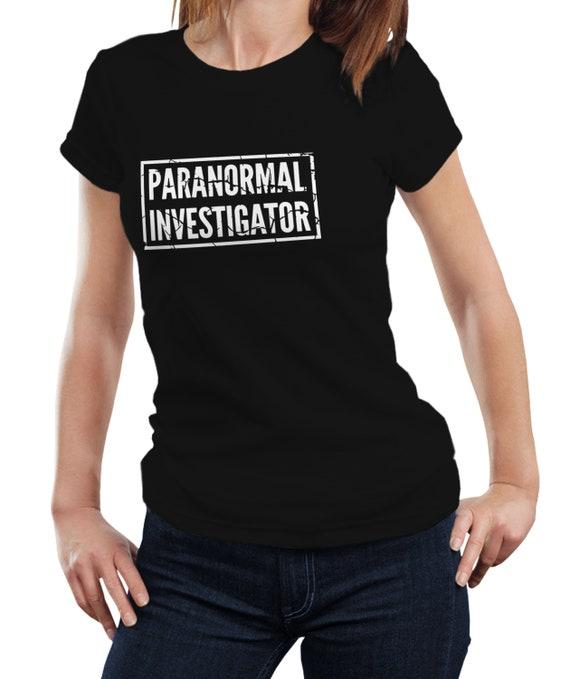Paranormal Investigator - Ghost Hunter Haunted Gift Women Ladies T-shirt  Tshirt