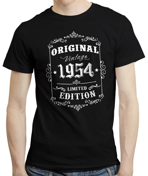 Vintage Year 1954 Limited Edition 65th Birthday Mens Funny T-Shirt 65 Year Old