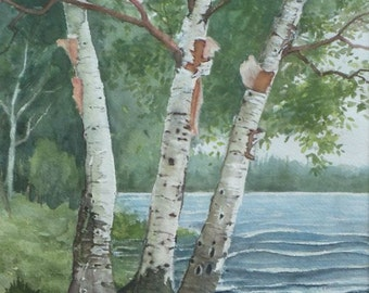 Shay Lake, Original Watercolor, Prints Available, 5x7 print with 8x10 matching mat. 20.00 each, Includes tax,shipping and handling.