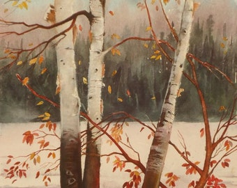 Birch By Lake, Original Watercolor, Prints Available, 5x7 print with 8x10 matching mat. 20.00 each, Includes tax,shipping and handling.