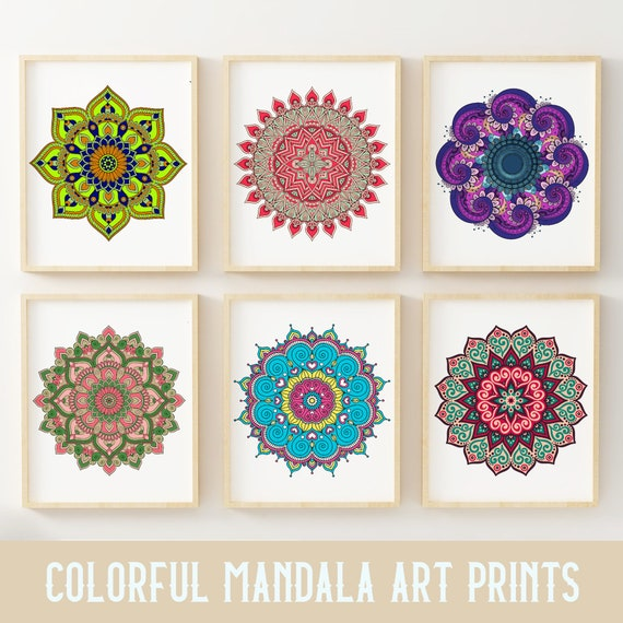 house decoration items mandala art print poster