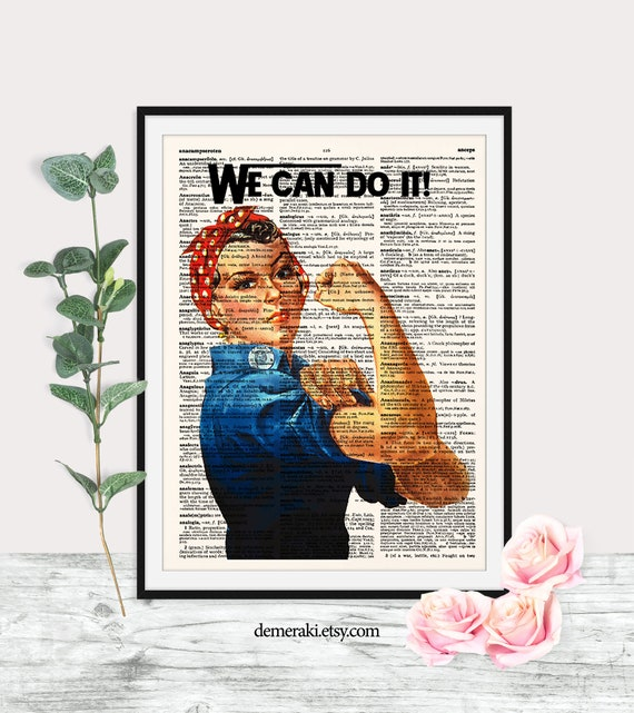 WE CAN DO IT ROSIE RIVETEER WARTIME GIRL POWER POSTER PRINT A4 A3 /& LAMINATED