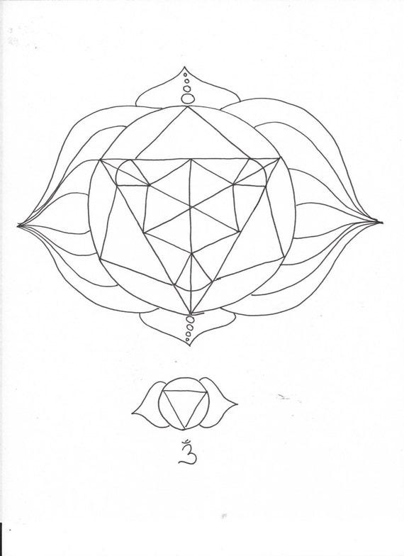 Third Eye Chakra Elemental Mandala Adult Coloring Page