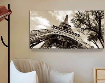Wall Art Canvas Painting Landscape Paris City Eiffel Tower by Inucko