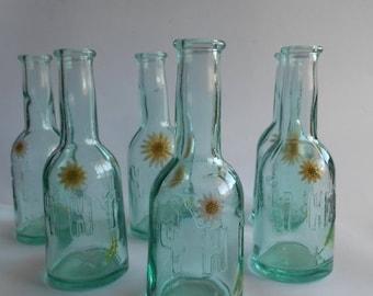 20%ON SALE Set of 6 Small Glass Bottles ,Whisky Bottles, Wine Bottles, Brandy Bottles,Home Decor