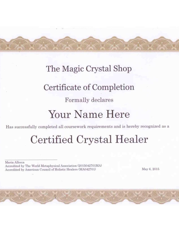 Basic Certified Crystal Healer Course Etsy