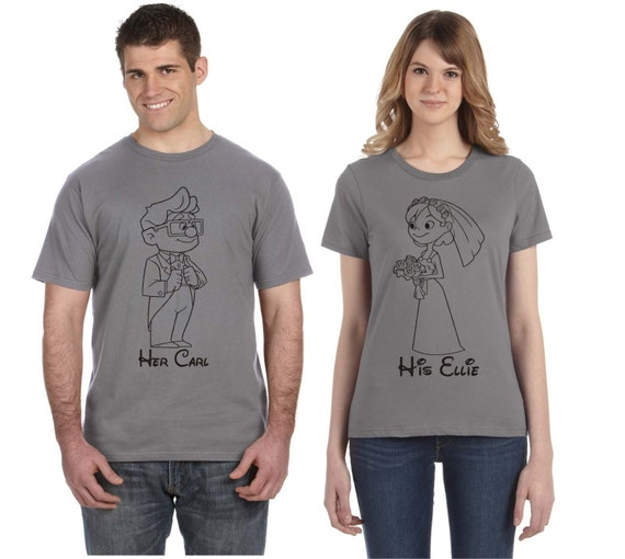 UP Carl and Ellie Couples Disney T Shirt LGIFiD50g2
