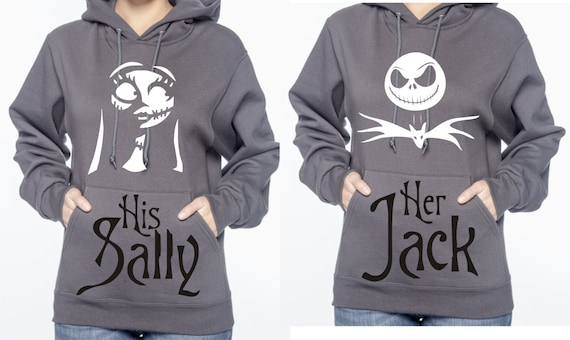 Personalized Matching Jack And Sally Hoodies Sweatshirts Etsy