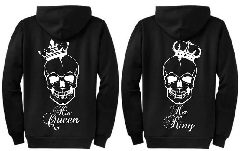 08a08f1d6b Personalized King and Queen Matching Couple Sweatshirts | Etsy