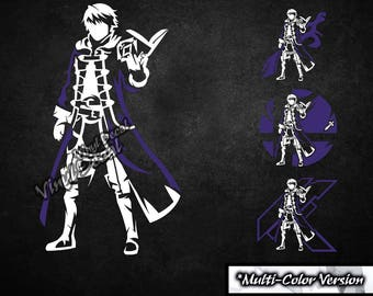 Robin (Male) Vinyl Decal (Fire Emblem Video Game Series) *Multi-Color Version*