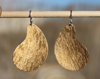 Bohemian Earrings Large Boho Earrings Raw Brass Earrings Boho Jewelry Chic Bohemian Jewelry Metal Earrings Gypsy African jewelry Geometric