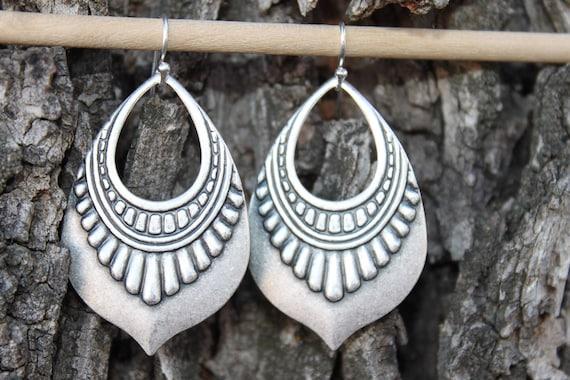 4d53cea6a Silver Bohemian Earrings Boho Earrings Boho Jewelry Bohemian | Etsy