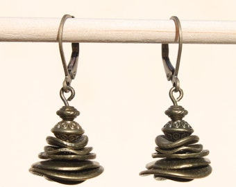 Brass Earrings Dangle Drop Earrings Boho Chic Earrings Boho Jewelry Birthday Gift for women SMALL EARRINGS Gift For Her Gift