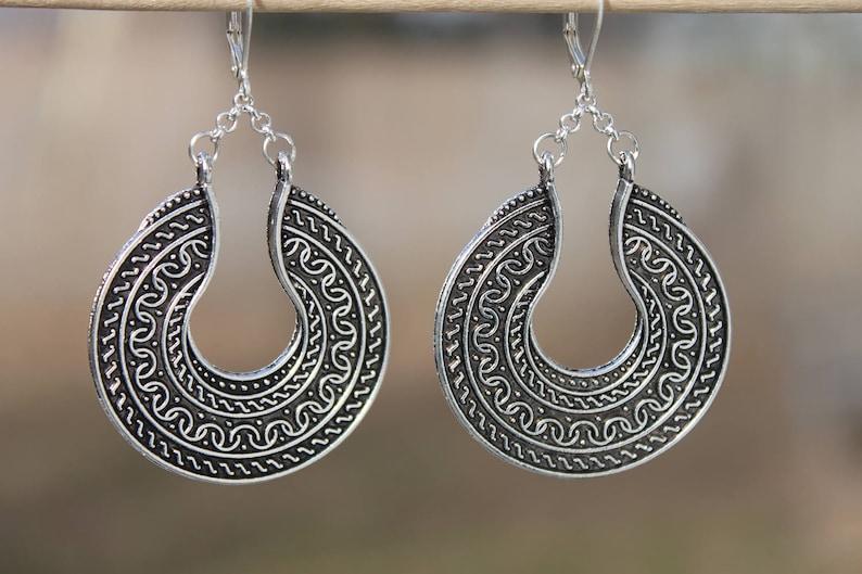 6a0531305 Antique Silver Earrings Boho earrings Boho Jewelry Bohemian | Etsy
