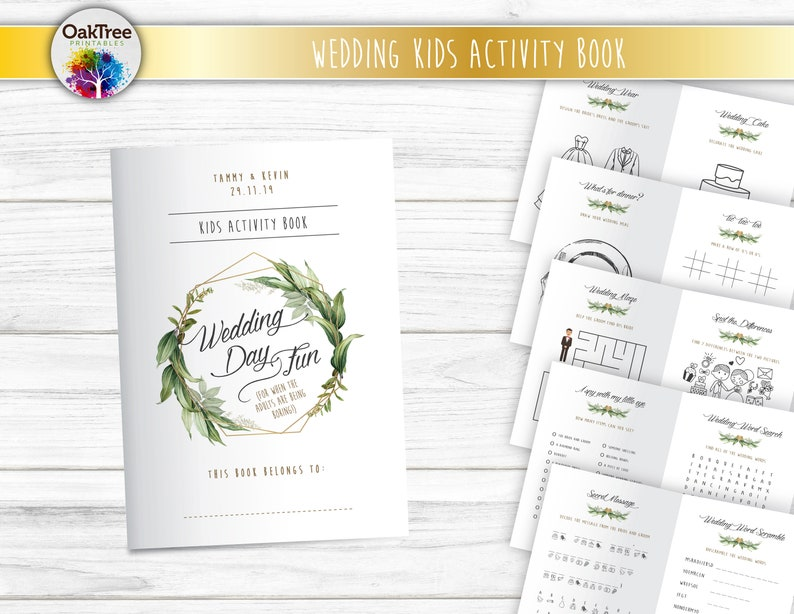 Wedding Kids Table Activity Book Printable Busy Book image 0