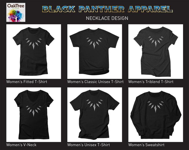 c014b42a Black Panther - Necklace - T-shirt - Apparel - Merchandise - Men - Women -  Kids - Child - Hoody - Tank - Pants -Wakanda Forever-Minimalistic