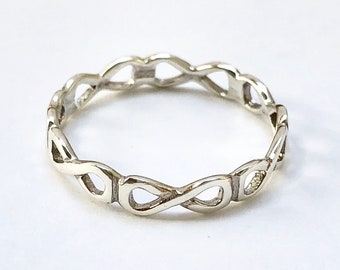 9d8d7377b 925 Sterling Silver Forever Infinity Eternity Symbol Ring