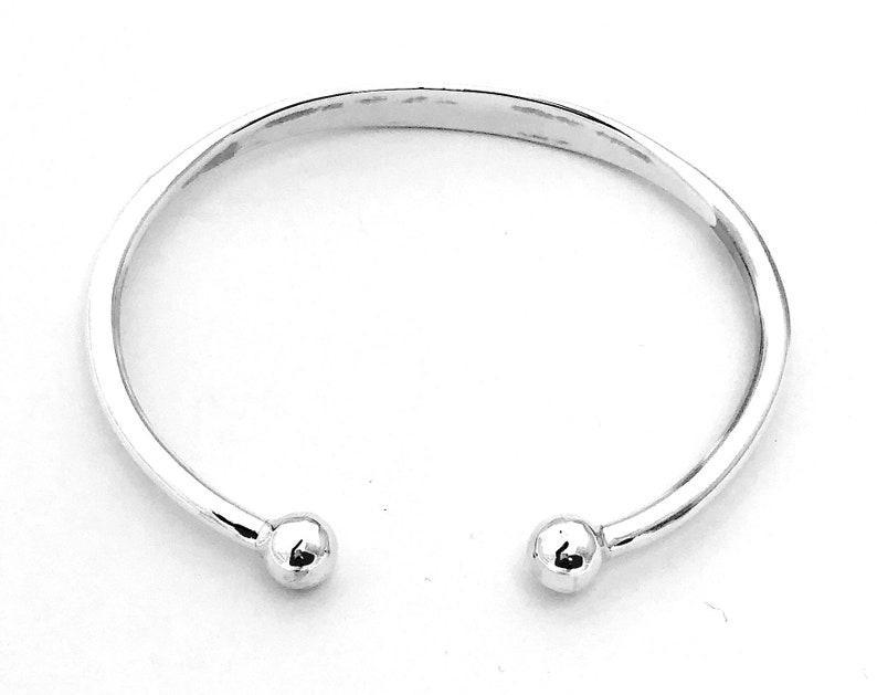 925 Sterling Silver Child/'s Baby/'s Christening Torque BANGLE Bracelet