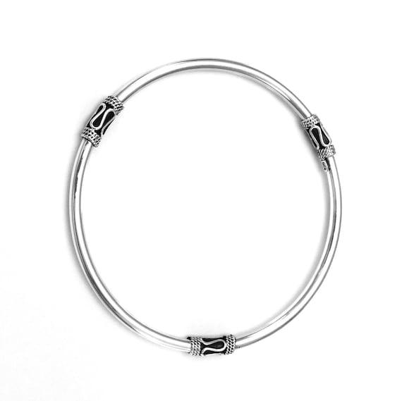 Classic Balinese Bangle sterling silver bracelet   silver 925  Bali handmade jewelry  silver 925 #246K