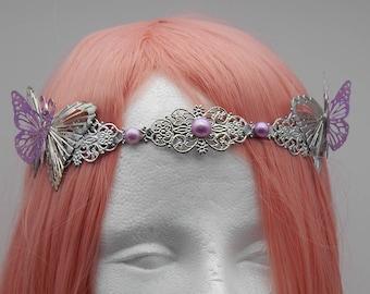 Butterflies Wedding Tiara Headband Head Jewelry elf