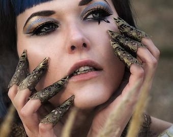 5pc antikgold Filigree Claws Nails