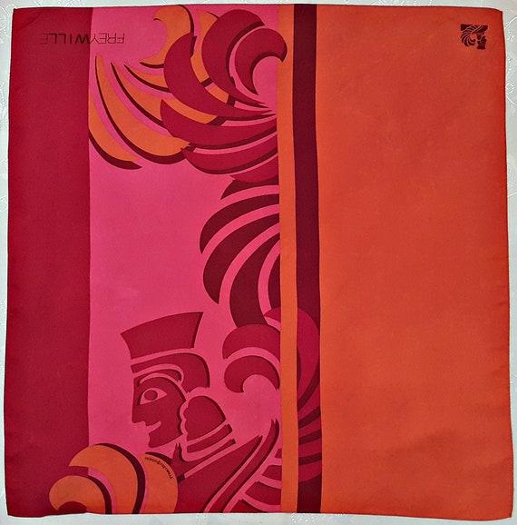 Vintage Authentic Michaela Frey Wille Egyptian Art Orange Red   Etsy 00f23b77ba2