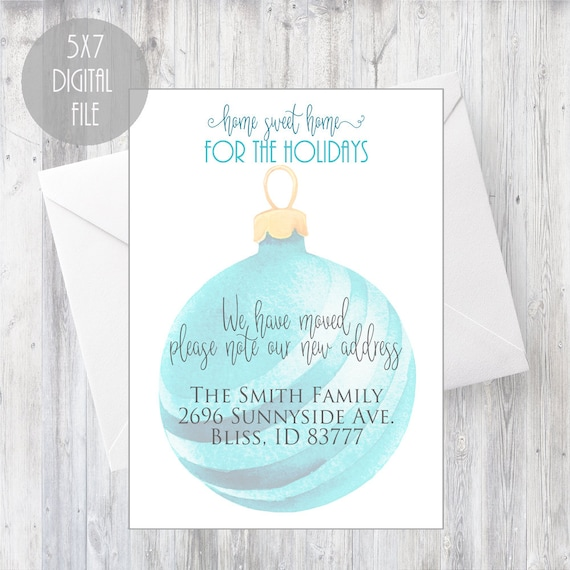 christmas holiday moving announcement we have moved card etsy