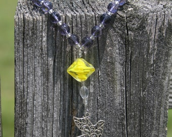 Anglican/Protestant Prayer Beads - light violet glass