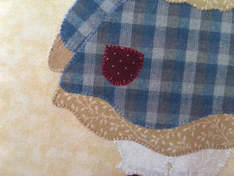 Cuscino decorativo in tessuto tecnica applique stile country etsy