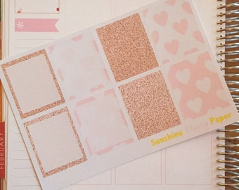 Rose Gold and Pink Collection Erin Condren Decorative Full Box planner stickers!