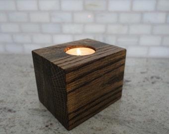 Handmade Wood Tea Light Candle Holder, Votive Holder, Tealight Holder, Wood Candles Holder, Unique Housewarming Gift
