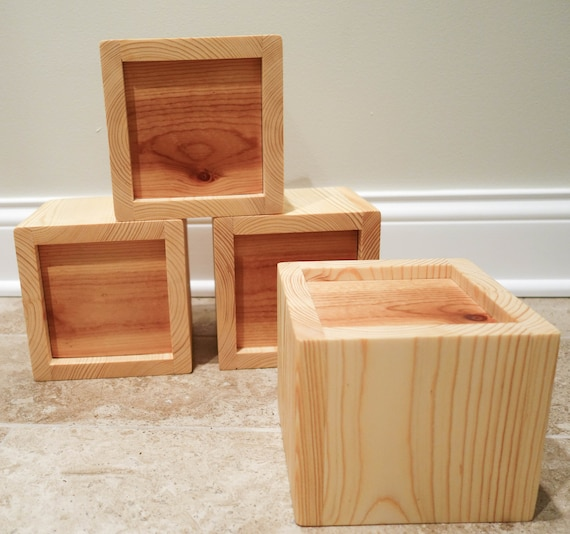Custom Furniture Bed Risers Pine 2 55 Handmade Solid Core Set Of 4 Made To Order