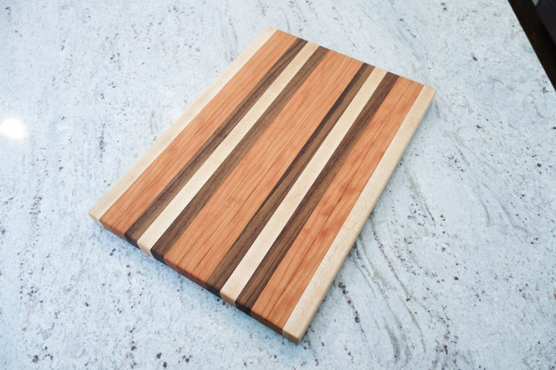 Handmade Walnut Cherry Maple Cutting Board Made to Order