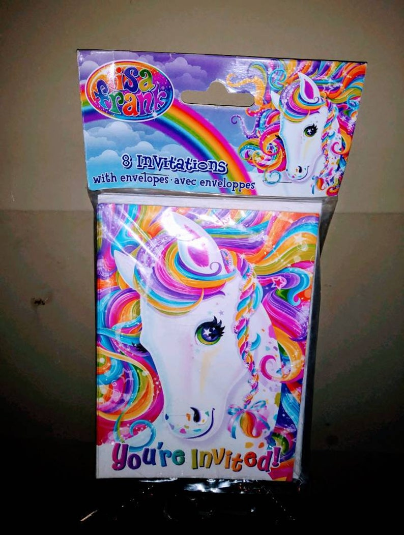 Lisa Frank Unicorn Birthday Party Invitations New In Package Rainbow
