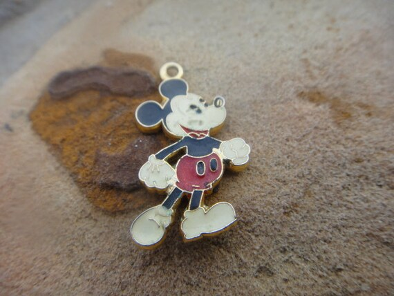 Vintage VTG Mickey Mouse Jewerly Necklace Pendant