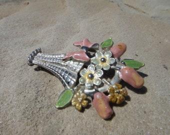Stunning Beautiful Vintage Flower Pendant Pin Brooch Stunning