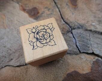 Rubber Stamp Craft Stamp wooden rubber stamp scrapbooking Rose flower