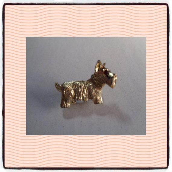 Vintage Jewerly Scottie Dog Scotty dog brooch vint