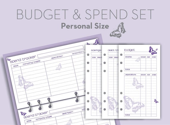 planner printable budget tracker spend tracker debt saving etsy