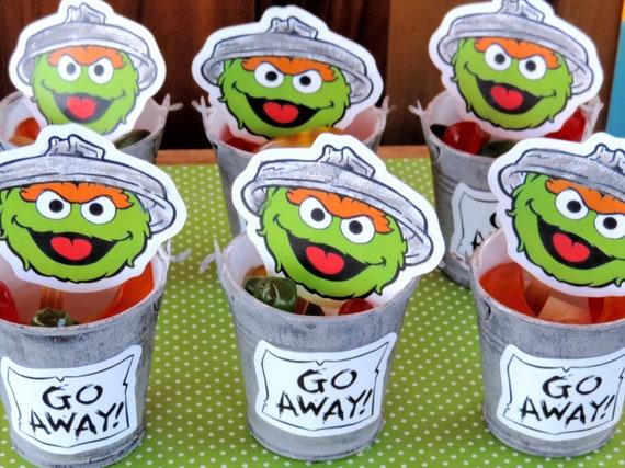6 Oscar The Grouch Mini Trash Cans Oscar The Grouch Party