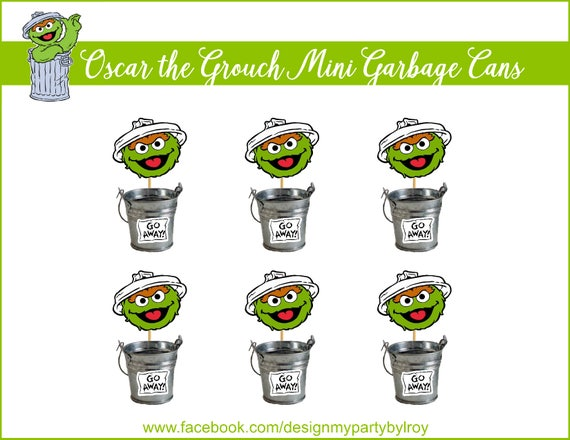 Sesame Street Party Decoration Oscar The Grouch Party