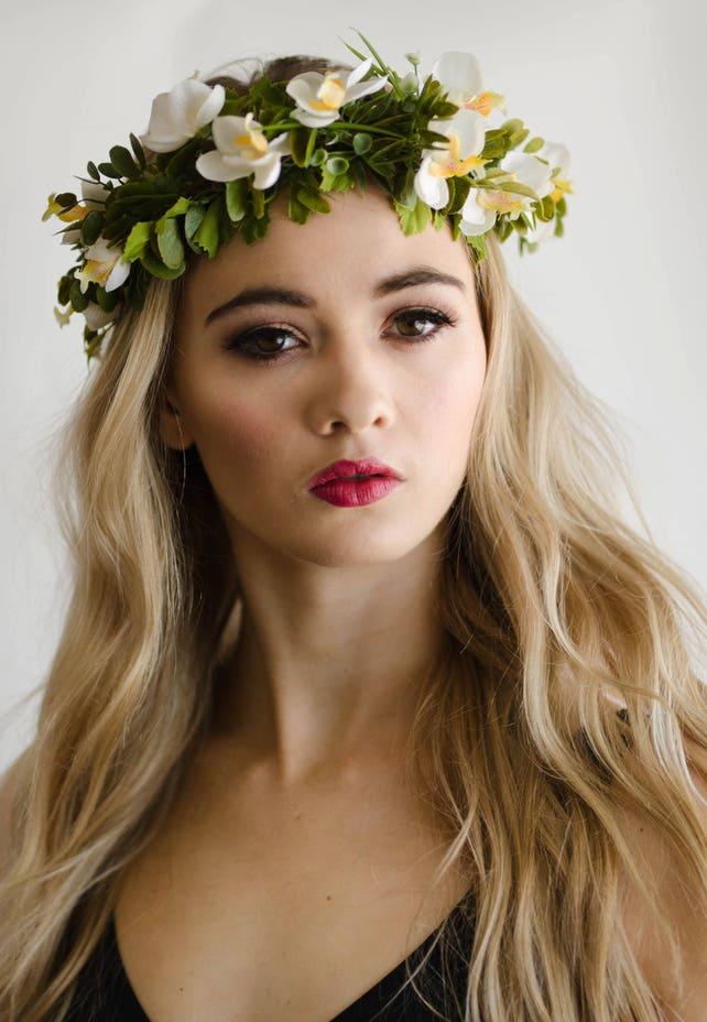 White flower crown Bridal Flower Halo Hawaiian Flower Crown   Etsy
