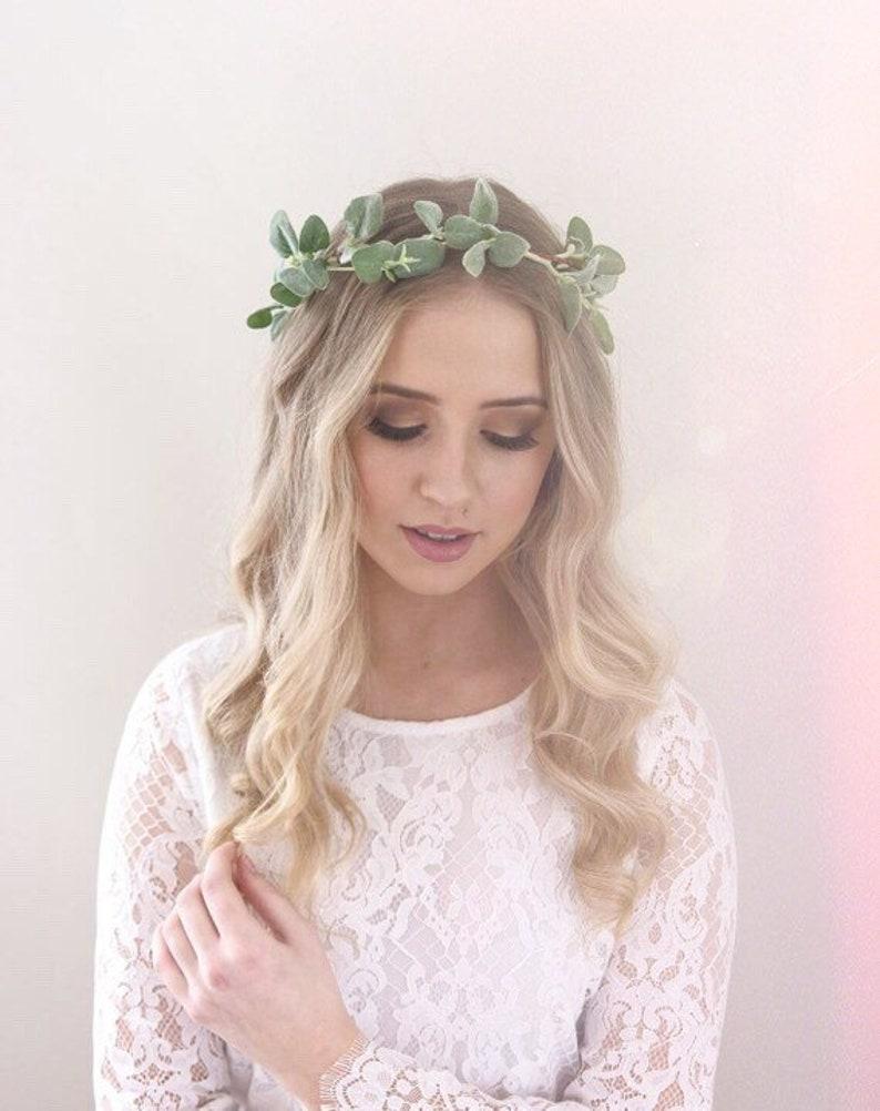 4f89724da Greenery Crown Hair Vine Green Flower Crown Greenery Halo | Etsy