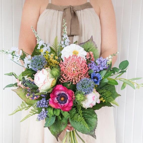 Bouquet Sposa Colorato.Bouquet Di Wildflower Bouquet Colorato Bouquet Da Sposa Etsy