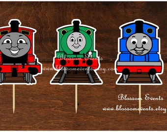 Thomas the train Cupcake Toppers.