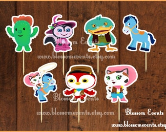 Sheriff Callie Cupcake Toppers (12).