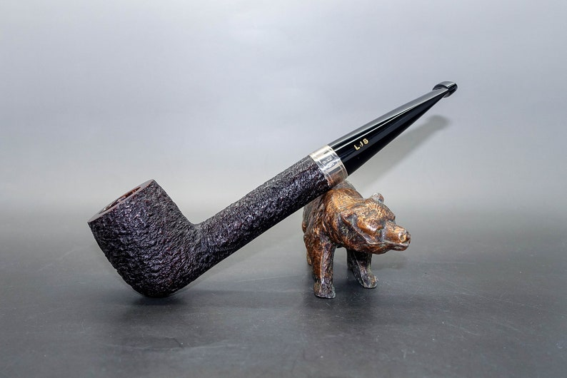 promo code c6763 01e8a Ferndown Bark - 2 Star - Large Liverpool With Silver Collar and Black  Tapered Stem - Beautiful Les Wood Pipe!!!