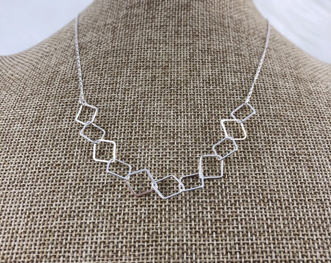 Mixed silver necklace